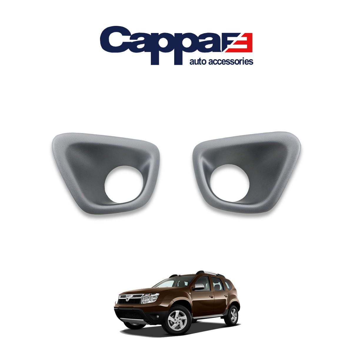 CAPPAFE Dacia Duster Sis Farı Çerçevesi Mat Gri 2010-2017