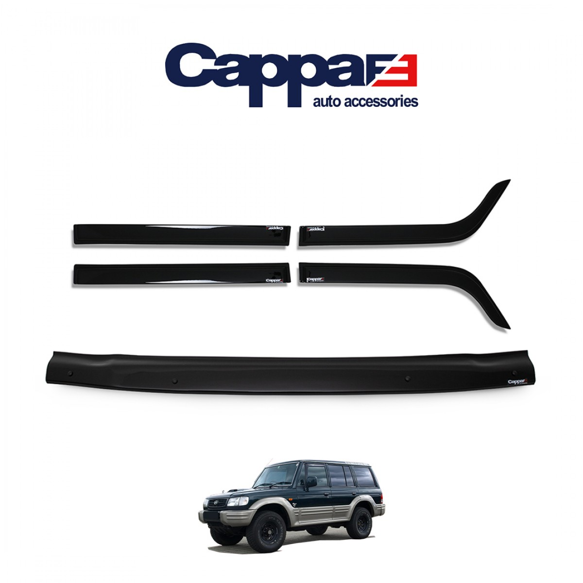 CAPPAFE Hyundai Galloper Ön Kaput Koruyucu ve Cam Rüzgarlığı 1997-2003