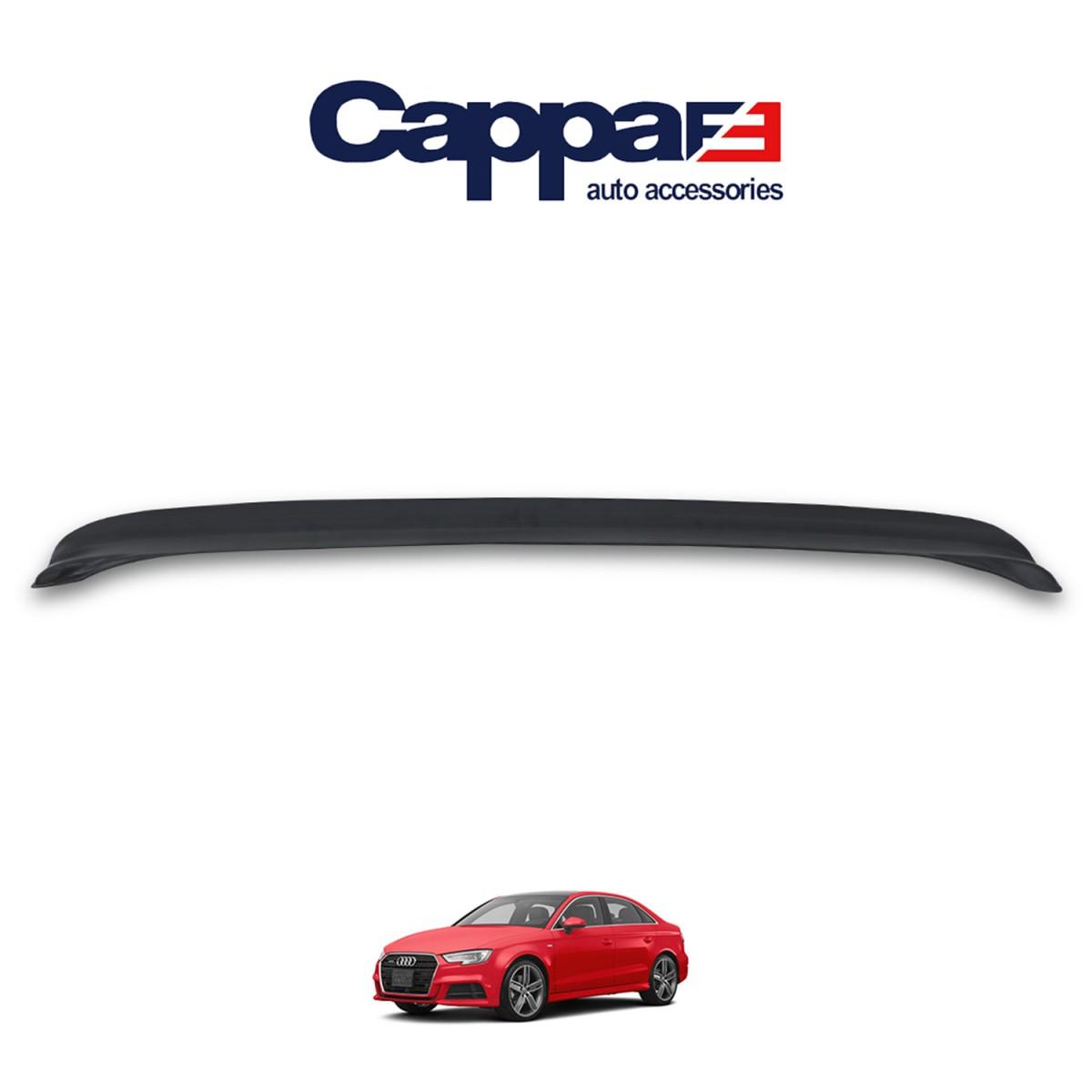 CAPPAFE AUDI A3  Arka Tampon Eşiği Mat Siyah 2017-2020