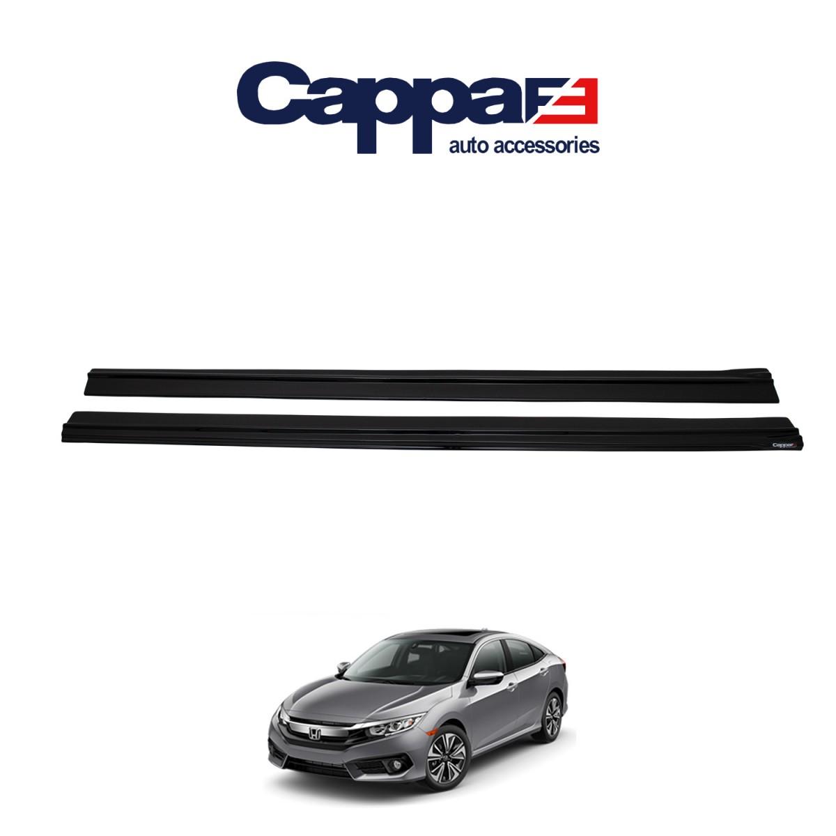 CAPAPFE Honda Civic 10 Yan Marşpiyel 2 Parça Sol ve Sağ Parlak Siyah 2016 ->