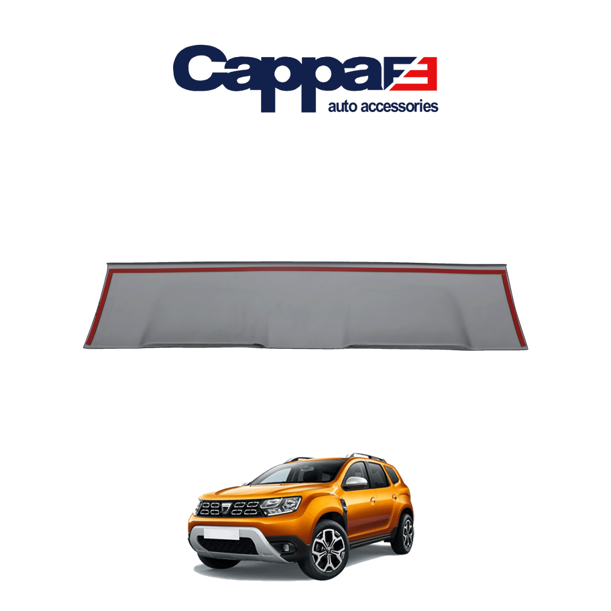 CAPPAFE Dacia Duster Ön Difüzör Mat gri 2018 ->