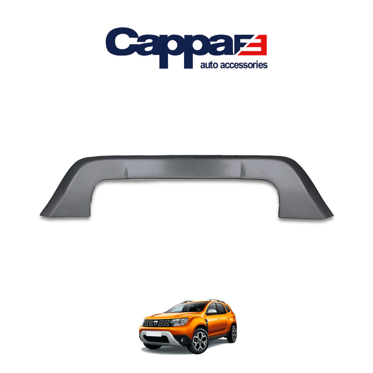 CAPPAFE Dacia Duster Ön Tampon Plaka Altı U Difüzör 2018 ->